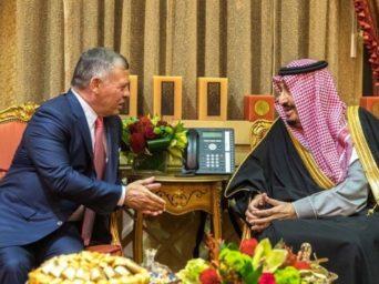 Ürdün Kralı II. Abdullah, Riyad'da Kral Salman Bin Abdulaziz İle Bir Araya Geldi