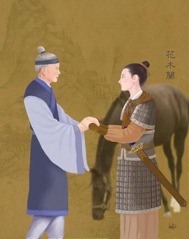 Mulan, 'cesur kadın savaşçı' (Resimleyen: SM Yang/Epoch Times)