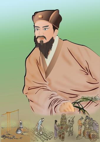 """Jia Sixie, """"Çin'deki ilk tarım ansiklopedisinin yazarı"""" (İllüstrasyon: Catherine Chang / Epoch Times)"""