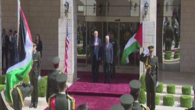 ABD Başkanı Trump, Filistin Lideri Mahmud Abbas'la Görüşüyor