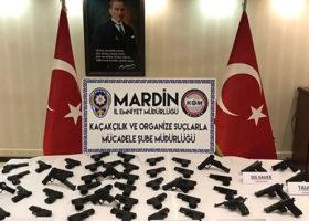 PKK'nın Irak'tan Gönderdiği 50 Adet Silah Ele Geçirildi