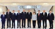 Azerbaycan Cumhurbaşkanı Aliyev, TBMM Heyetini Kabul Etti