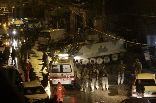 Lübnan'ın Trablus şehrinde bir kafede intihar saldırısı gerçekleşti (Foto: Ibrahim Chalhoub/AFP/Getty Images)