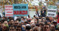 Cuma Namazı Sonrası Ülkenin Her Yerinden Kudüs Kararını Protestolar Başladı