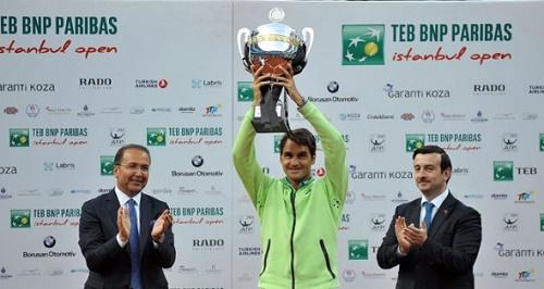 TEB BNP Paribas İstanbul Açık'ta, Roger Federer Pablo  şampiyon oldu. (İHA)