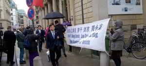 Hamburg Çin Diplomatları Protesto Etmek İsteyen Falun Gong Uygulayıcılarına İzin Verdi