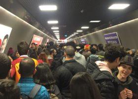 Zincirlikuyu'da Yoğun Metro Trafiği
