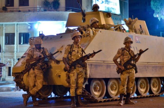 03 Temmuz 2013 Mısır'da Ordu tarafından darbe gerçekleşti. (MAHMOUD KHALED/AFP/Getty Images)