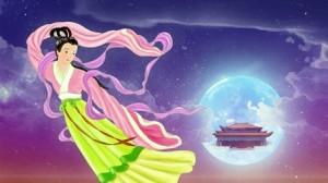 Chang E kederle dünyayı seyrediyor aydan (Amy Chang, Epoch Times)