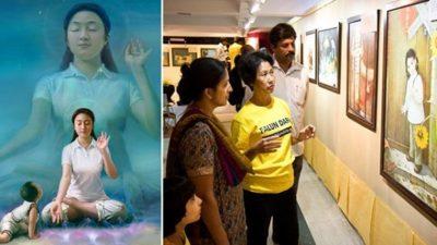 """Hindistan'da Uluslararası """"Doğruluk, Merhamet ve Hoşgörü"""" Sanat Sergisi Düzenlendi"""