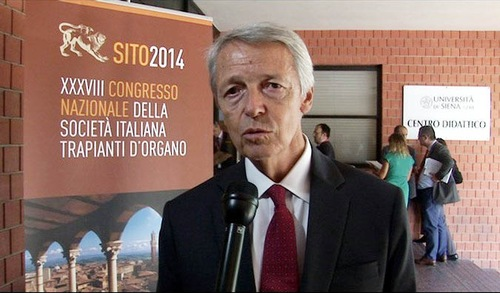 İtalya Organ Nakli Derneği (SITO) başkanı Profesör Franco Citterrio