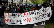 'Ne Macron Ne Le Pen': Fransız Gençler Protesto Etti