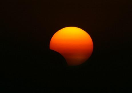 Irak'tan görünen Güneş tutulması