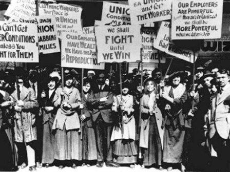 işçi kadınlar grevde