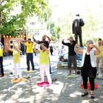 Ankara'da Falun Dafa Tanıtımı ve Sessiz Protesto