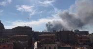 Roma'da Çıkan Yangın Vatikan'da Paniğe Neden Oldu
